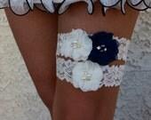 YOUR DESIGN , Navy Blue Garter Set , Wedding Garter , Ivory Garter , Garter , Toss Garter , Lace Garter Set , Bridal Garter