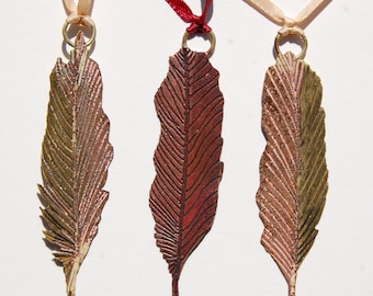 Set of 3 small Feather decorations