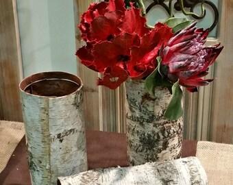 Birch Bark Tall Vase, ClaudiasCuteCouture, Rustic Wedding, Rustic Centerpiece, Wedding Decoration, Home Decor , Shabby Chic Decor