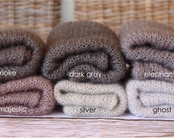 Mohair wrap newborn photo prop baby blanket Stretch Wrap 76 colours