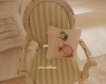 Beatrix Potter Cushion, Dollhouse Miniature,1:12 Scale Dolls House