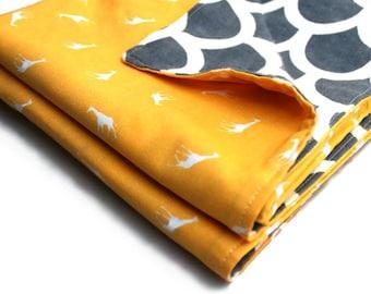 Baby gift set - yellow and grey giraffe