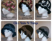 Flapper Hat- Cloche Hat - Adult Hat with Bow - Adult Hat with Flower - Mother/Daughter Hats - Girl's Hat with Bow- Girl's Hat with Flower -