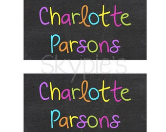 40 Waterproof Baby Bottle Labels - Dishwasher Safe - Personalized School Labels - Daycare Labels - 004