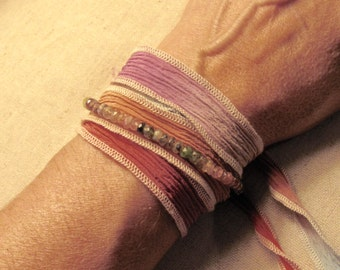 Pink and Green Tourmaline Bracelet Necklace