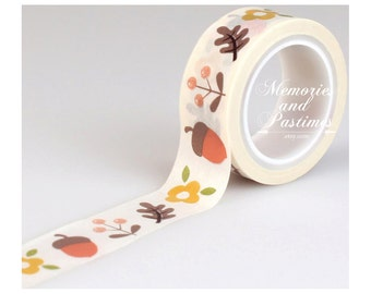 Acorns & Leaves Washi Tape - Echo Park - The Story Of Fall Collection - 15 ft - Scrapbooking Embellishment - 505417