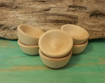 Set of 6 Wooden bowls