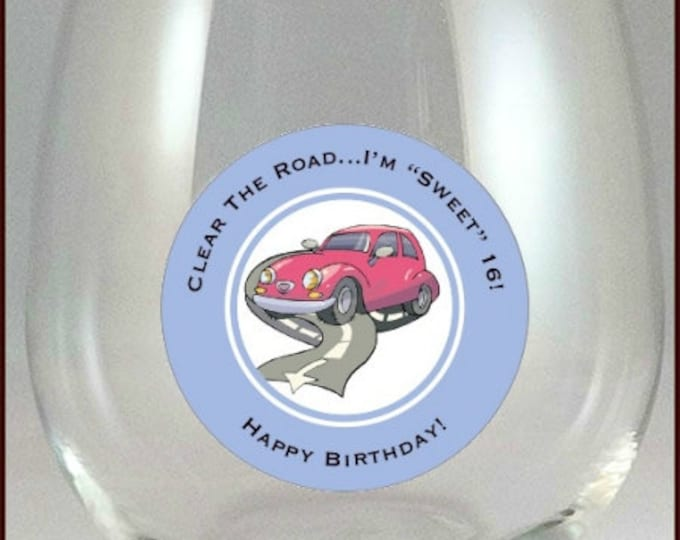 16th Birthday Glass Decals -  10 Pack, Glass Not included