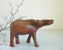 Water buffalo vinatge wooden decoration collectible souvenir ornament