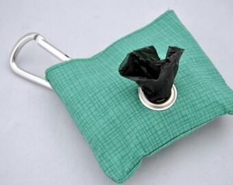 Grid Green Poop Bag Pouch