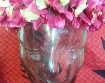 Silk magenta/yellow orchid headband
