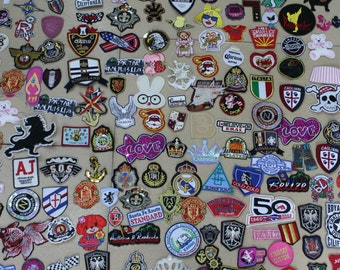 10 pieces wholesale lot Assorted Sew or iron on embroidered patches applique