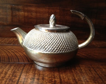 Vintage Silver Plated Teapot - Made In India