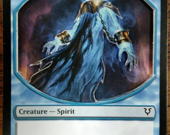 3D Magic the Gathering Spirit Token