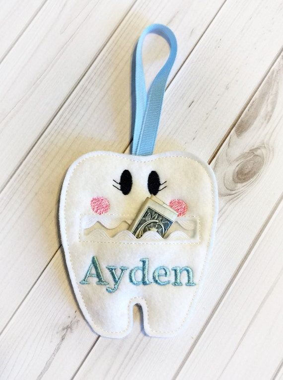 Tooth Fairy Pouch Personalized Girls Tooth Fairy Pouch
