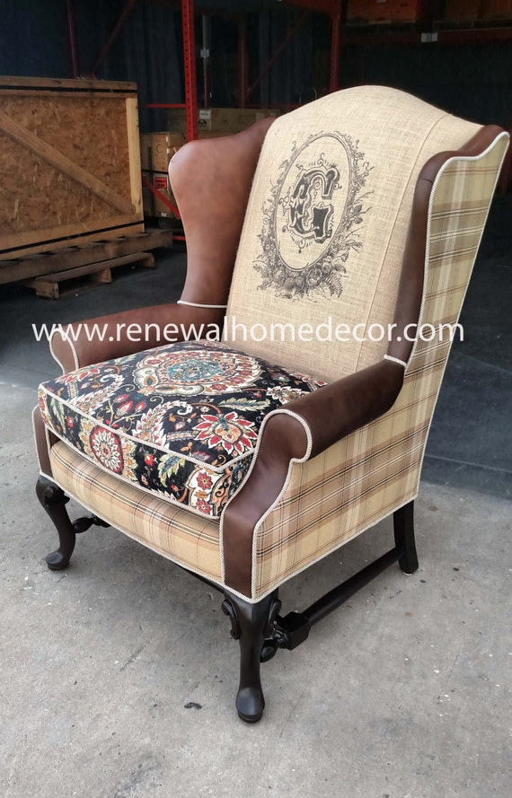 wing back accent chairs custom order upholstered wingback chair suzanne s 22164 | il 570xN.827418006 88jx