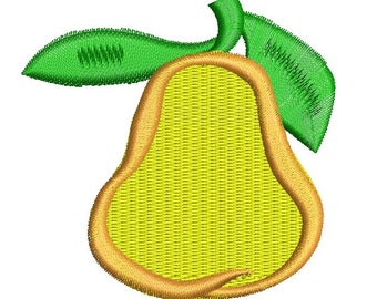 pear Embroidery Designs INSTANT DOWNLOAD  four sizes