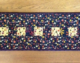 Modern Narrow Table Runner/Purple/Dots/Multicolor/Buds/Branches/Olive/Rust/Mustard/Table Mat/Dresser Scarf