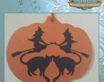 Large Pumpkin Papercut Decoration