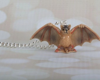 Bat Necklace - Halloween- Bat Jewelry - Bat -Bat Pendant - Handmade Necklace By Frenchtutu - Bat Necklace - Halloween Jewelry - Vampire Bat