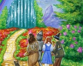ACEO Original Limited Edition PRINT from Original Painting The Wizard of Oz Fairy Tale