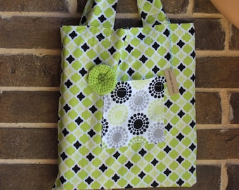 Market Tote Bag - Reusable Shopping Bag - Green Fabric Tote Bag - Fabric Tote Bag - Fabric Library Bag - Cotton Tote - Mother's Day Gift