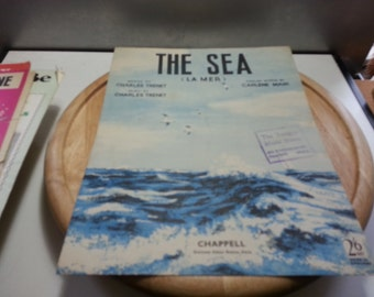 The Sea, (la mer) chappell, vintage music sheet, fair condition