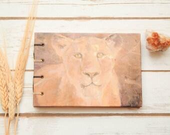 Lioness Journal coptic binding handmade