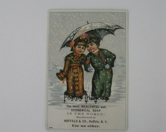 Victorian Era Trade Card - Poppy Oil Soap - The Most Healthful and Economical Soap in the World