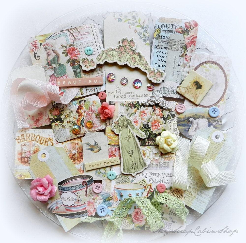 Shabby Chic Inspirations On: Shabby Chic Embellishment Kit // Inspiration Kit