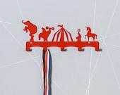 Circus theme kids doat hanger / Festival room decor / Animals coat rack / Elephant wall hook