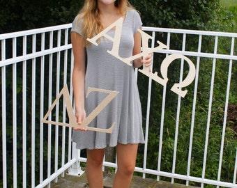 Delta Zeta Sorority Wooden Letters Paintable