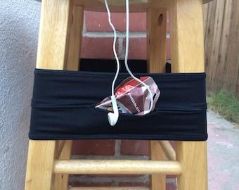 running belt - MADE TO ORDER - solid black. fanny pack. phone holder. runner gift.