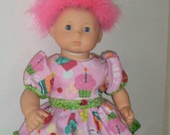 Cute Happy Birthday Dress - for American Girl Bitty Baby Doll