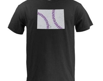 Colorado Baseball (Grey/Purple) - Black