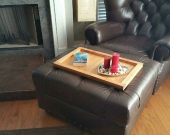 Handmade Oversize Ottoman Tray Table Top Great Gift