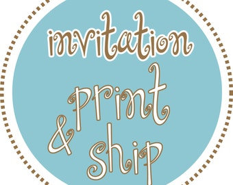 Custom Invitations Printed & Shipped