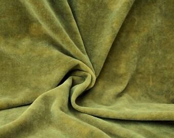 """Hand-dyed Velvet - Okra Green - Fat Eighth 17"""" x 10"""""""