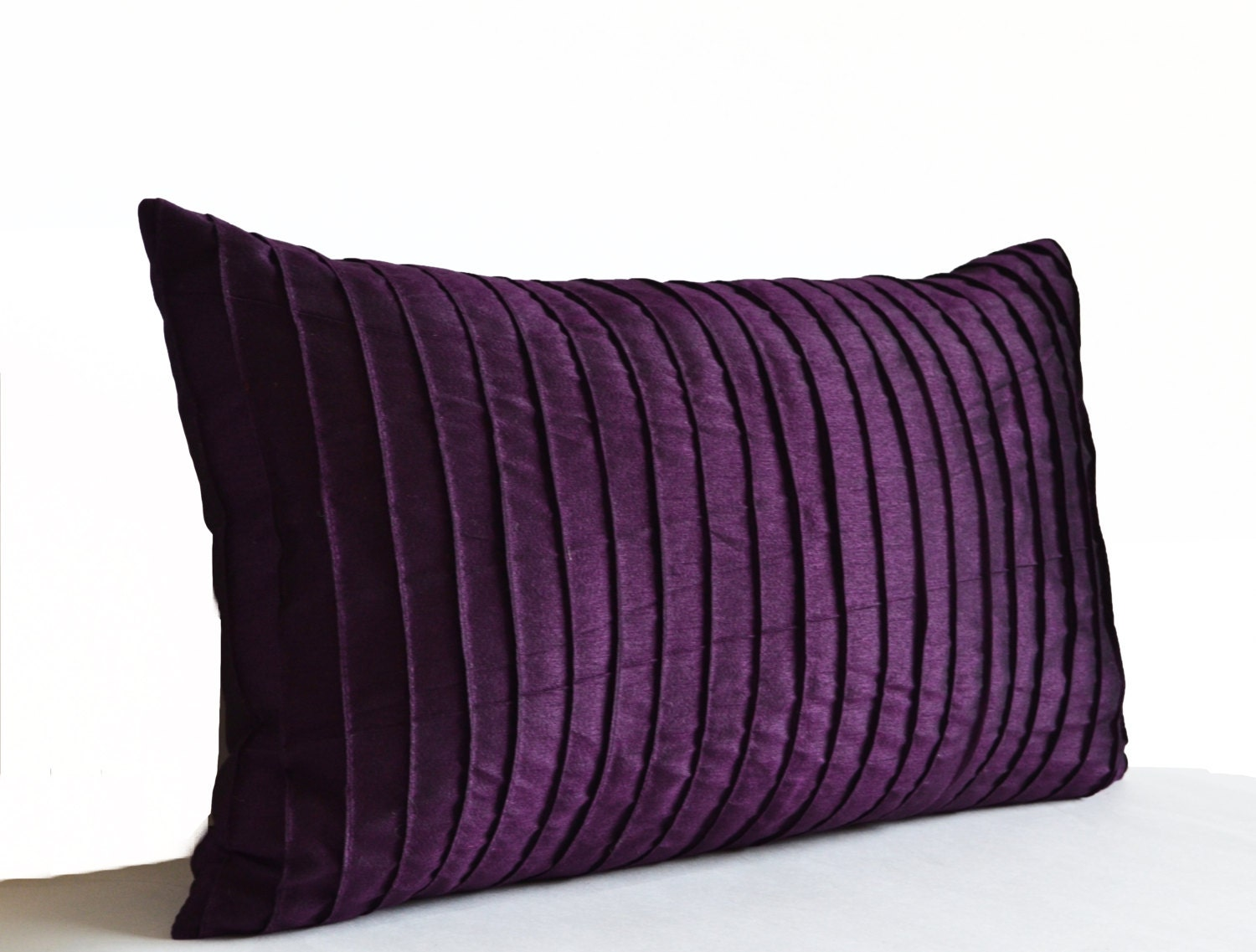 Purple Decorative Pillow Cushion Cover Deep Dark Purple Throw