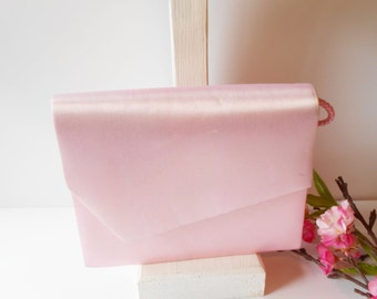 Pink Evening Bag, Vintage Pink Purse, Evening Purse, Pink Clutch, Clutch Handbag, Wedding Purse, Bridal, Vintage Evening Bag  EB-0620