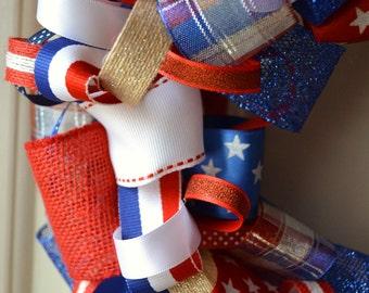 Stars & Stripes Ribbon Wreaths