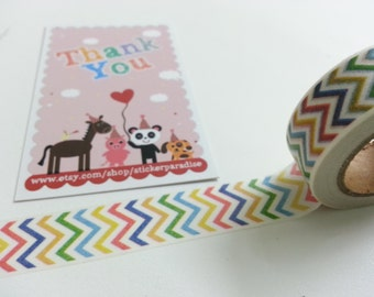 Rainbow Color Washi / Masking Tape - 10M