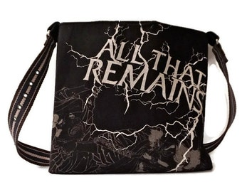 All That Remains Bag Upcycled T-shirt Crossbody Bag