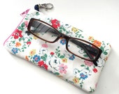 Padded Glasses case handmade with Cath Kidston Material