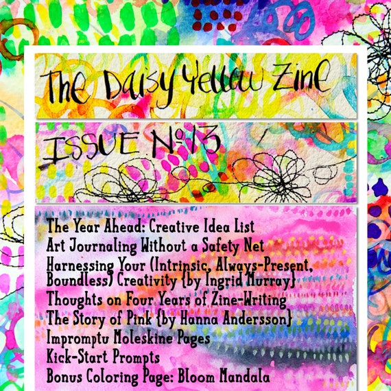 Coloring Book Zine : Zine 13 Daisy Yellow Coloring Page by DaisyYellowArt on Etsy