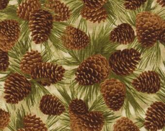 Pine Cones - -Cabin-C9124-Natural