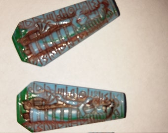 Vintage Blue Green Egyptian Glass Cabochon