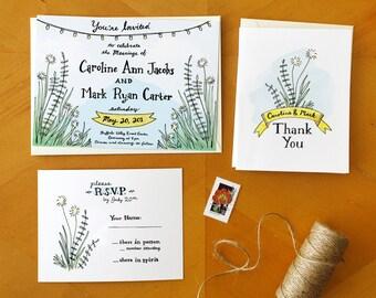 A Southern Romance: Painted Barn Wedding Invitation / Deposit