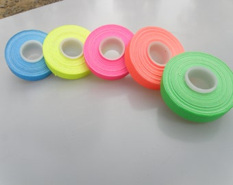"5 Roll Pack GLOW UV Neon Gaffers Tape 1/2"" 30 ft Rolls ALL Colors"
