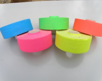 "5 Roll Pack UV Neon Gaffers Tape 1"" 15 ft Rolls ALL Colors"